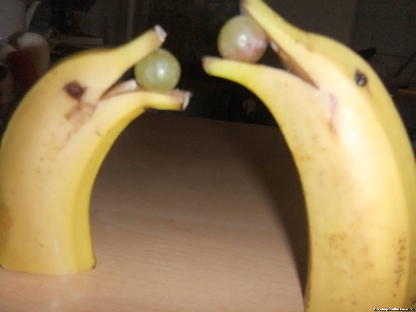Как из банана сделать дельфина фото